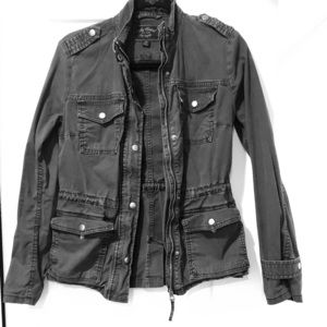 XS Lucky Brand Utility Coat in Charcoal Grey.